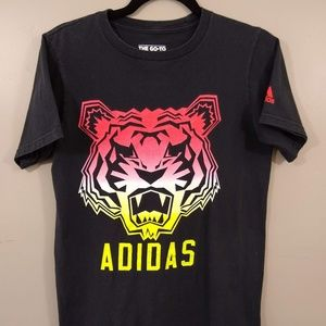 Adidas The Go-To Tee Tiger Big Cat Shirt Size S